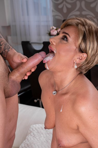 Horny MILF is fucking and sucking her younger tenant for rent