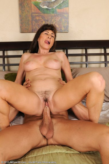 47 year old Alexandra Silk from AllOver30 getting her fill of hard cock