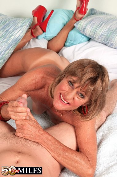 MILF Daisy Lou fucking hard with her toy boy