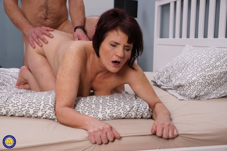 Horny mature slut fucking with her younger lover