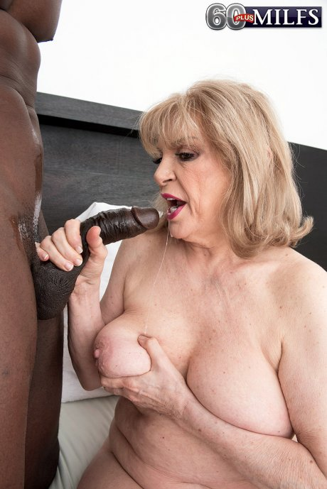 A 70-year-old GILF and a big, young, black cock